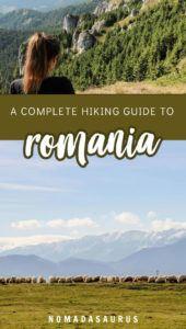 Romania Hiking Pinterest Image