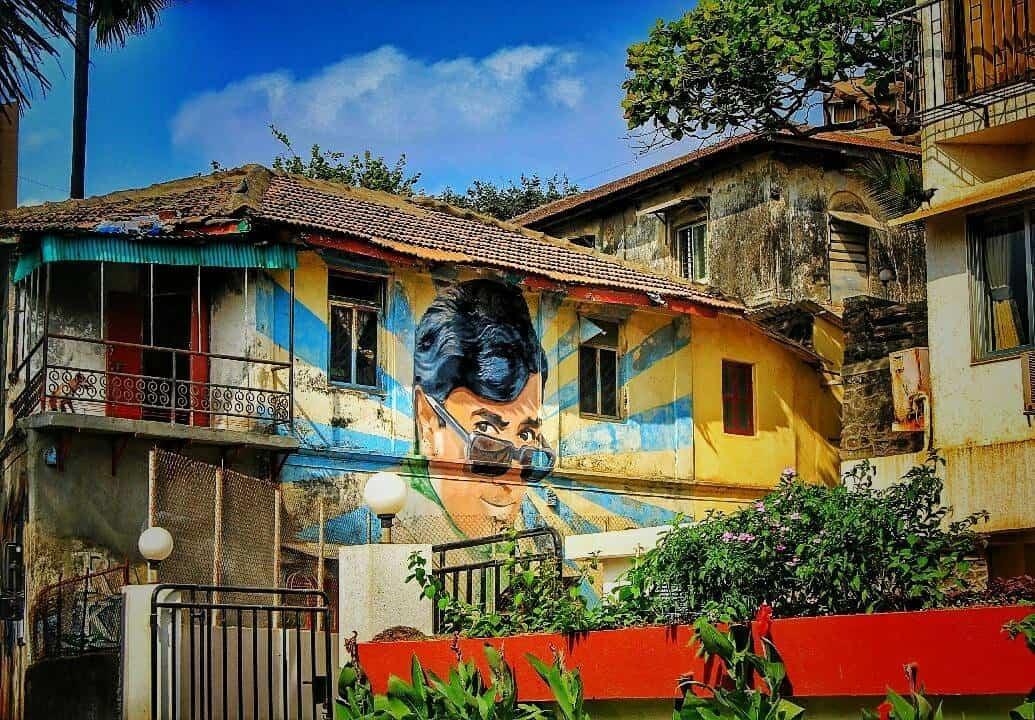 Rajesh Khanna -Murals on Chapel Road Bandra - Mumbai Maharashtra