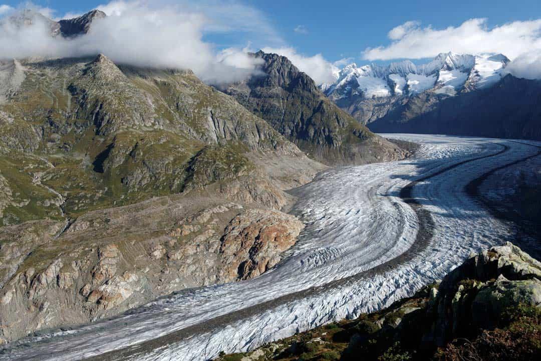 Aletsch Glacier Hiking In Switzerland