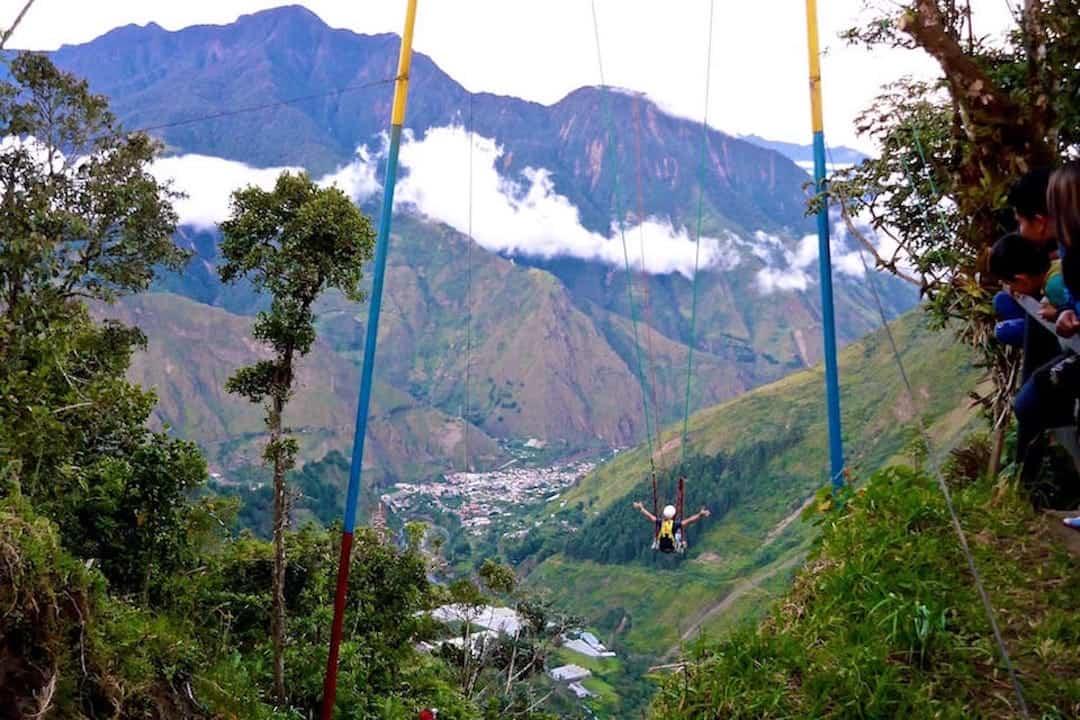 El Vuelo Del Condor Swing Banos Adventure Activities In Ecuador