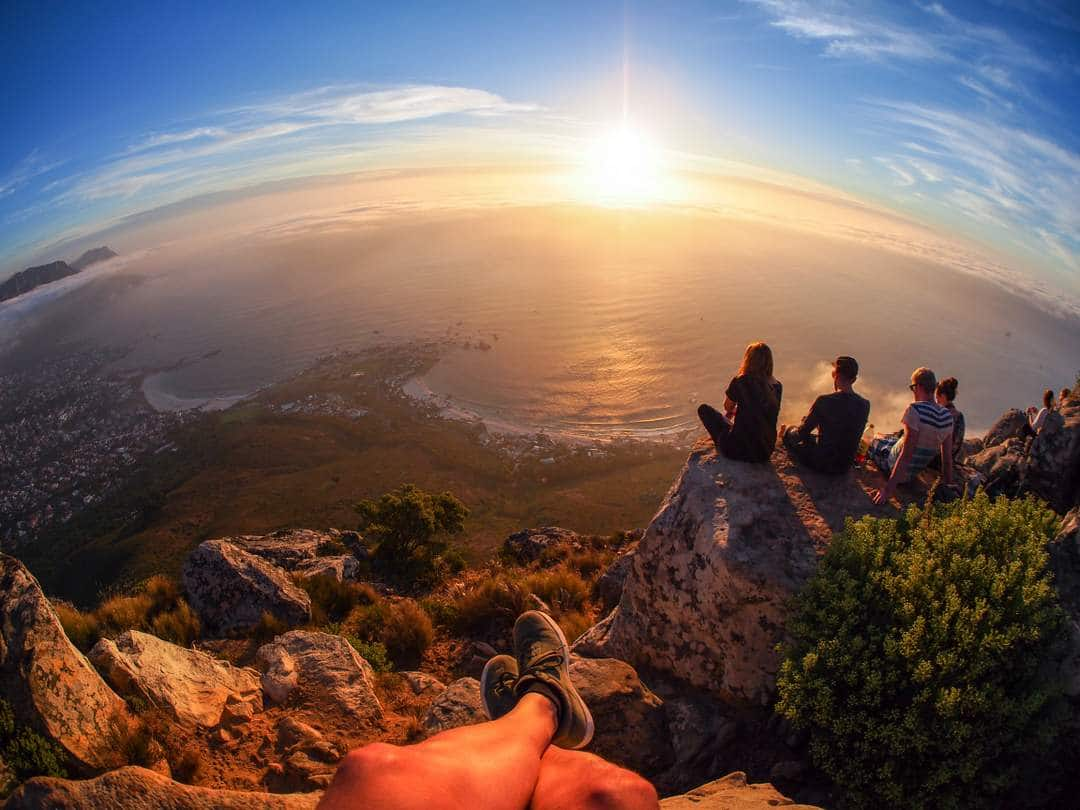 Sunset View From Lions Head, Cape Town, South Africa