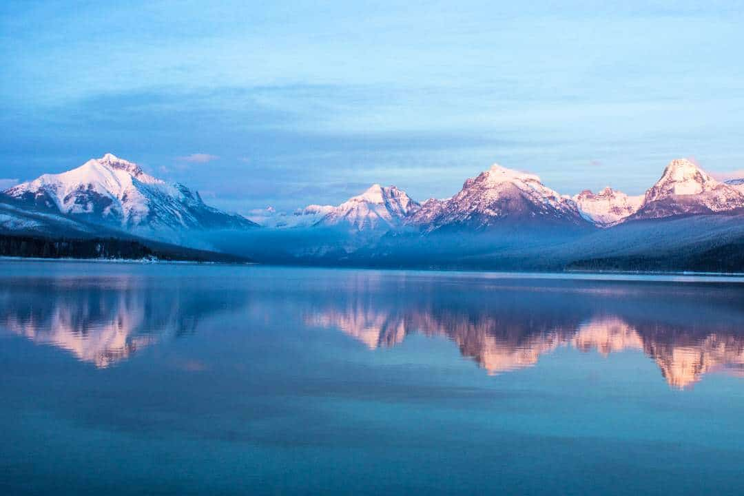 Lake Macdonald - glacier national park Motorbiking