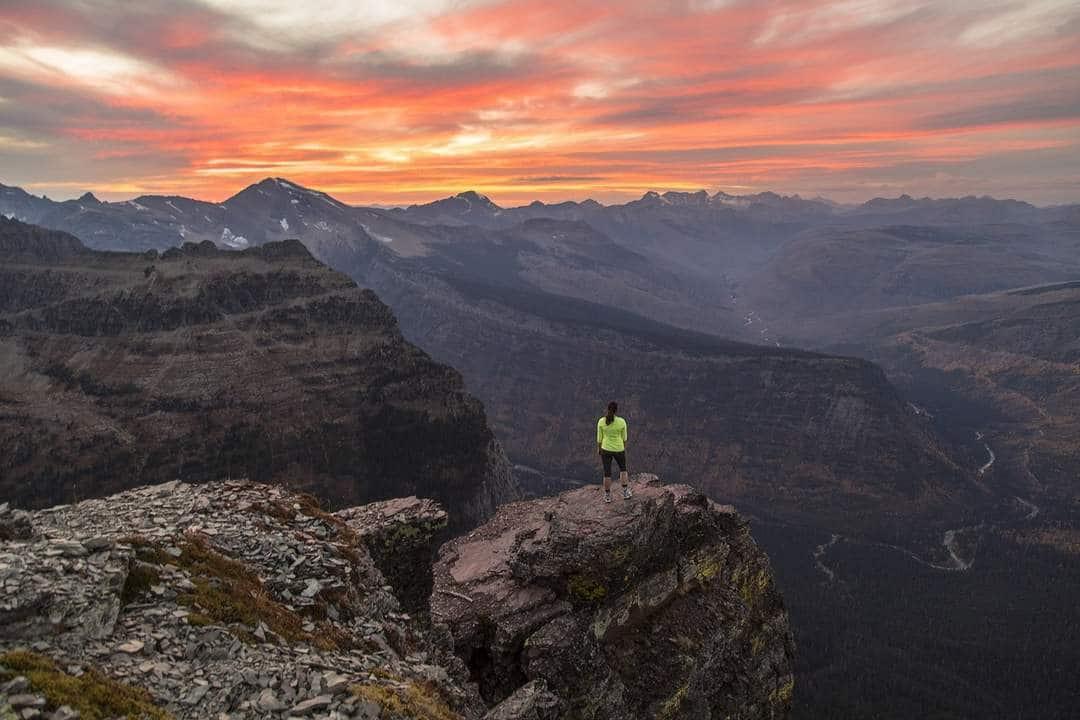 Stunning sunset in Glacier National Park