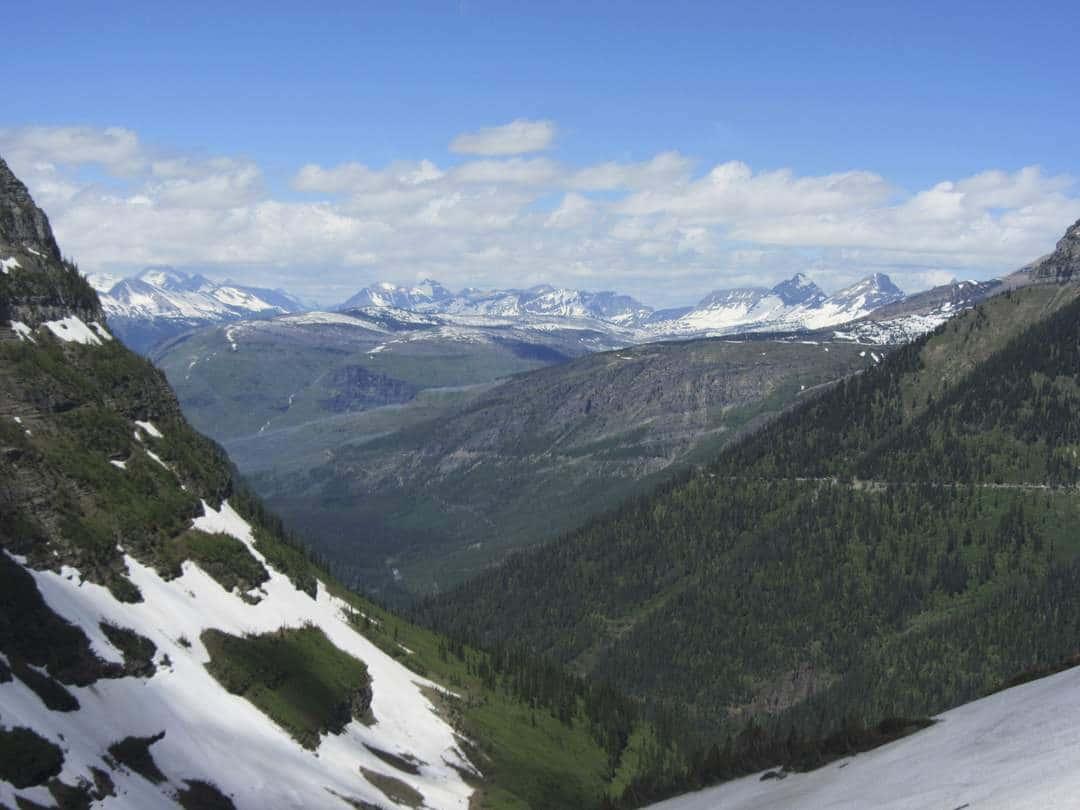 Vew near Logan Pass - Motorbiking Glacier National Park