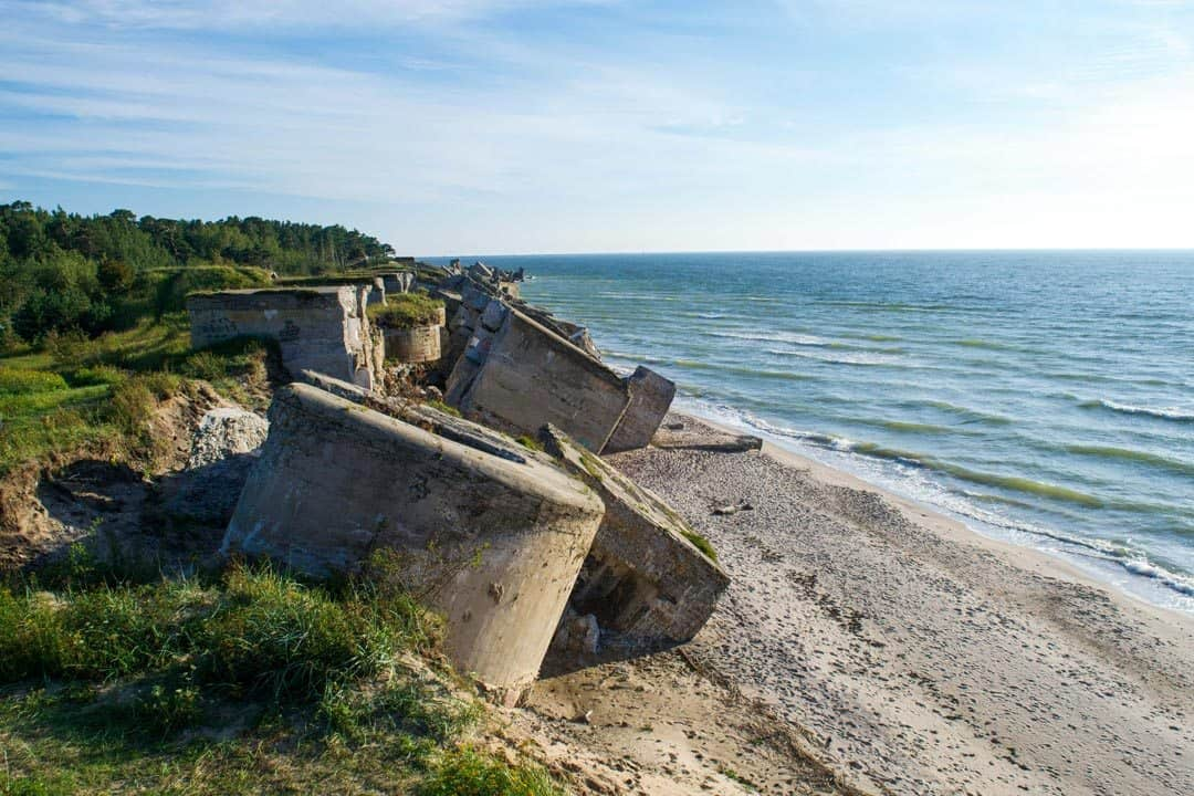 Northern forts Karosta Beach Latvia