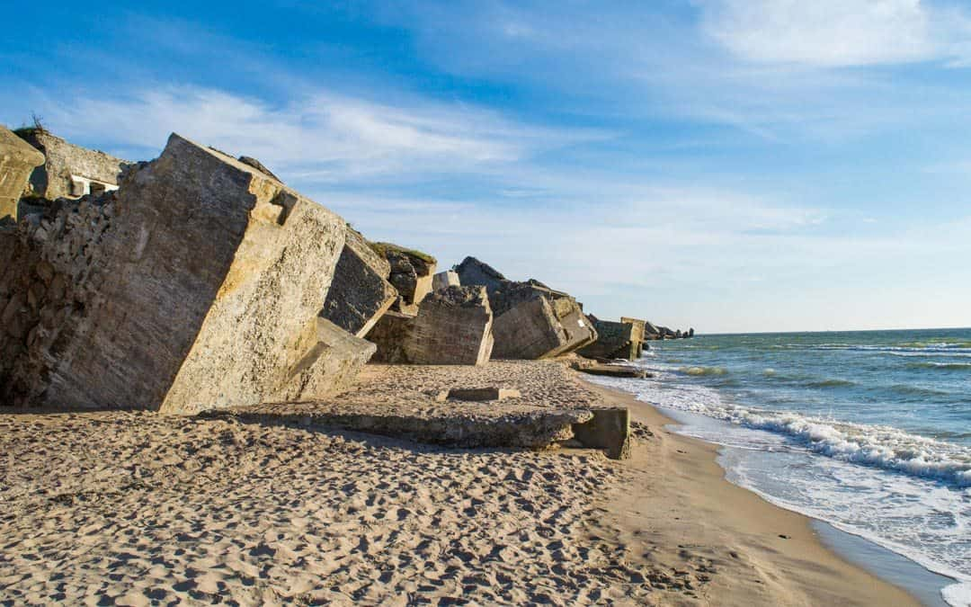 Concrete Karosta Beach Latvia