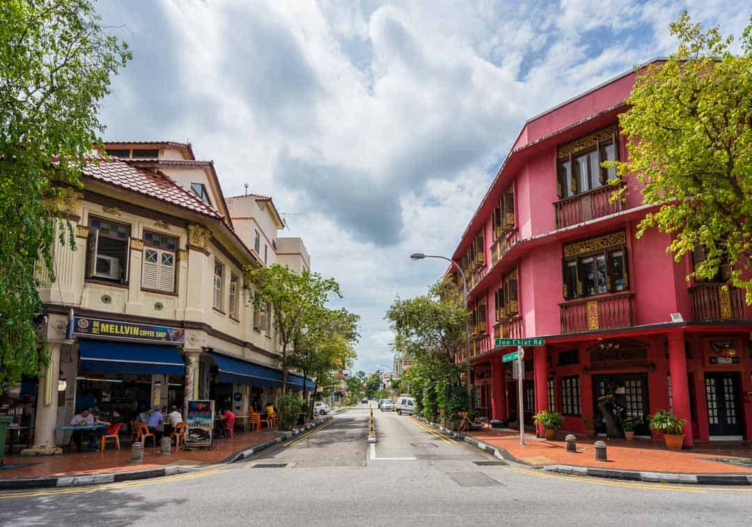 Local streets in Katong, Singapore.