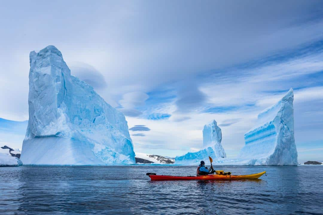 Kayaking Cierva Cove Antarctica