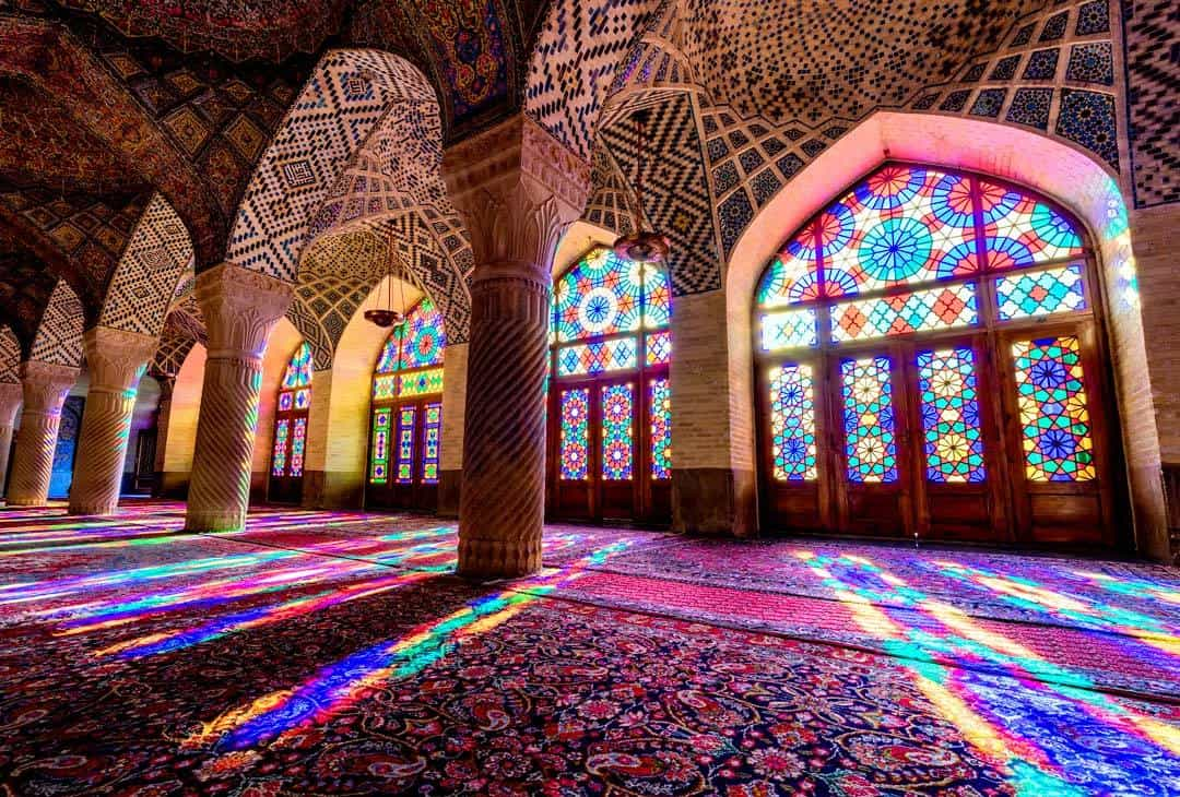 Nasir ol Molk Mosque Sunrise Shiraz