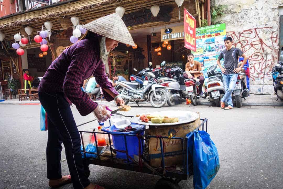 Lady Selling Street Food