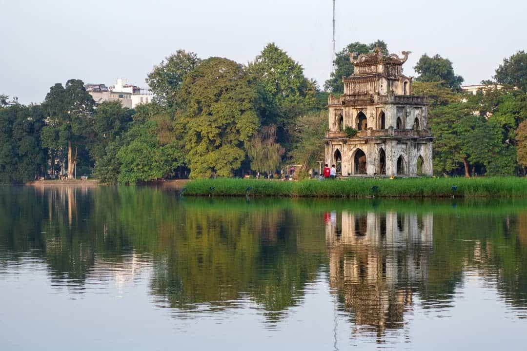 Temple At Hoàn Kiếm Lake.