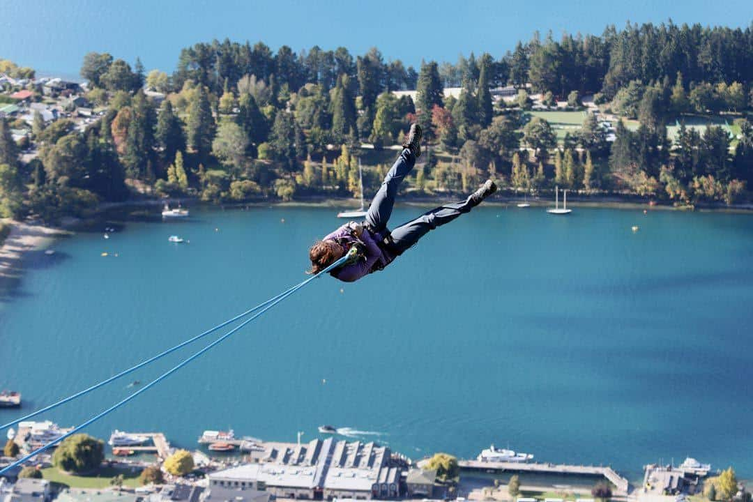AJ Hackett Ledge Swing Queenstown