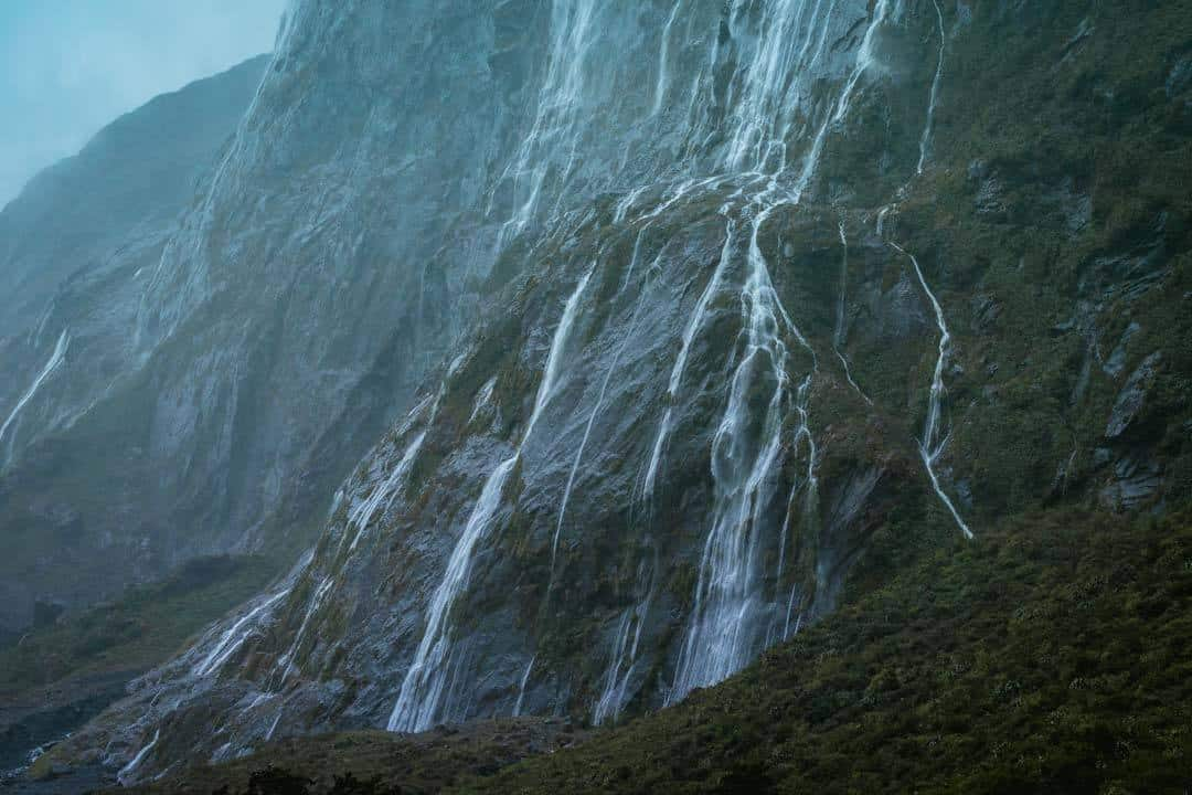 Waterfalls Milford Sound