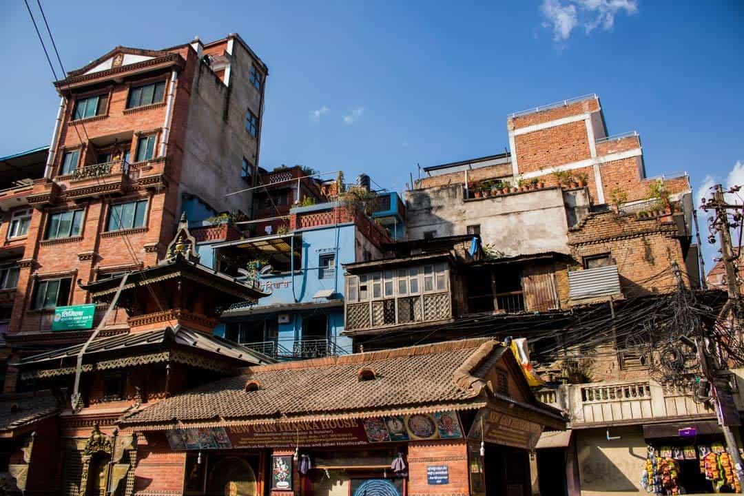 Buildings Thamel Kathmandu