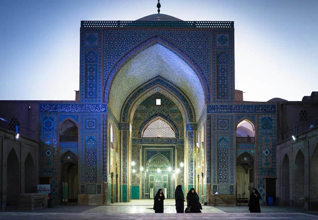 Women Mosque Yazd Visit Iran