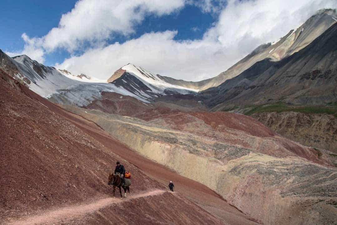 Horse Man Pamir Range