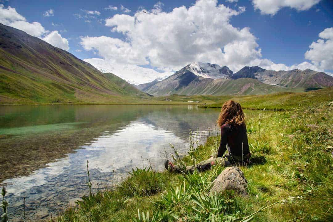 Tulpar Lake Kyrgyzstan Sitting