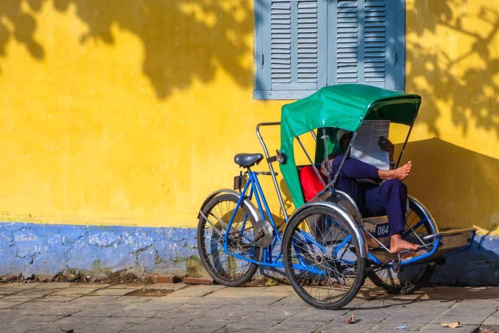 Man In Rickshaw