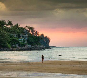 Lady Walking Sunset Pixabay