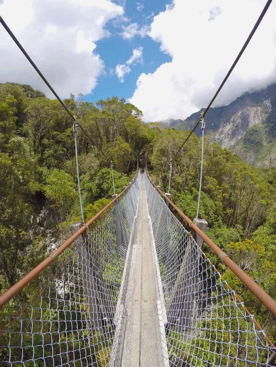 Swing Bridge Trekking In New Zealand