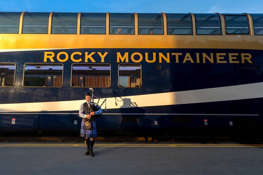 Bagpiper Rocky Mountaineer