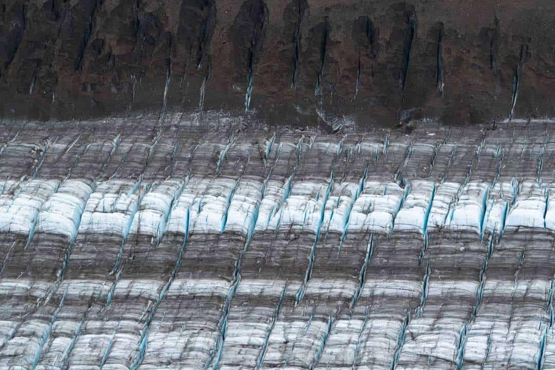 Crevasses Kaskawulsh Glacier