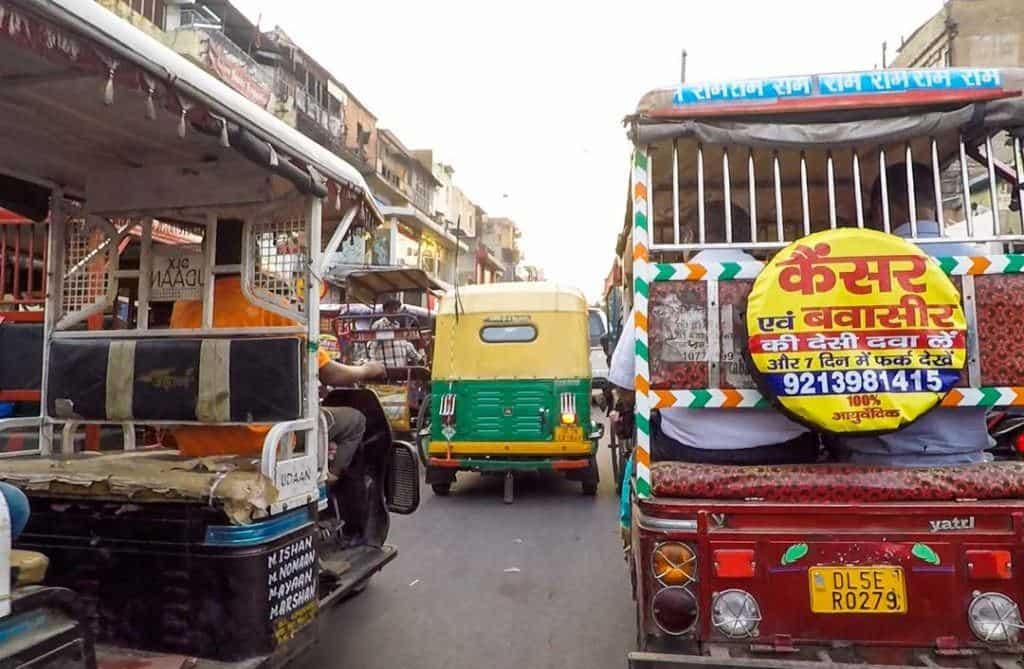 Delhi Streetscene on Golden Triangle Tour In India.