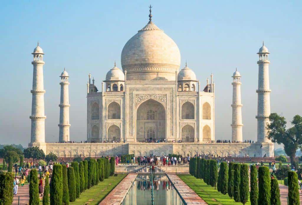 Taj Mahal Sunrise On The Golden Triangle Tour India.