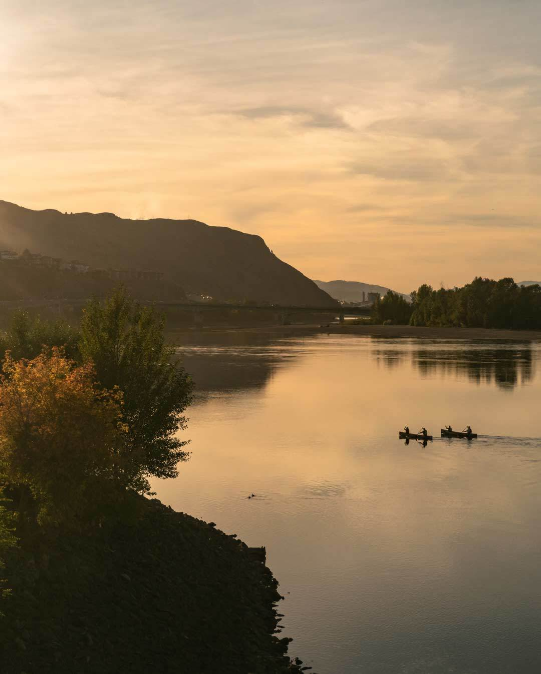 Kamloops Canoes Sunset