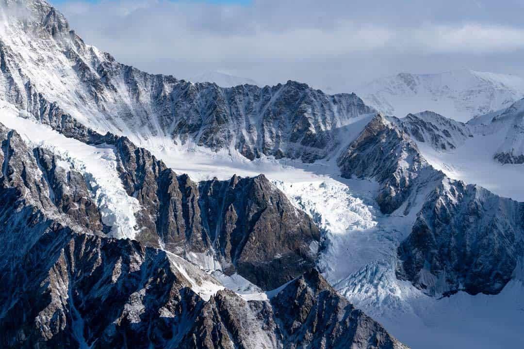 Glaciers Ridges Kluane Flightseeing
