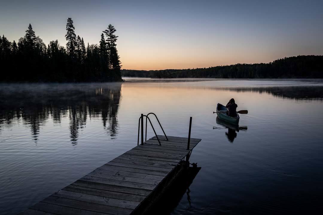 Alesha Sunrise Canoe Manitoba