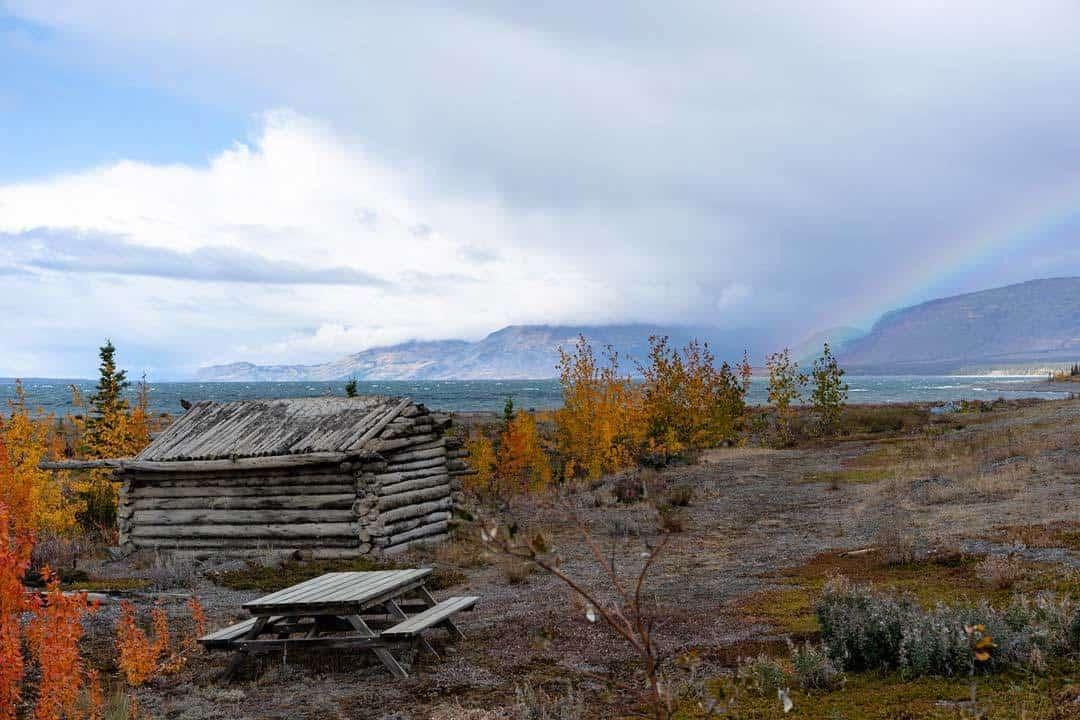 Log Cabin Alaska Highway Road Trip