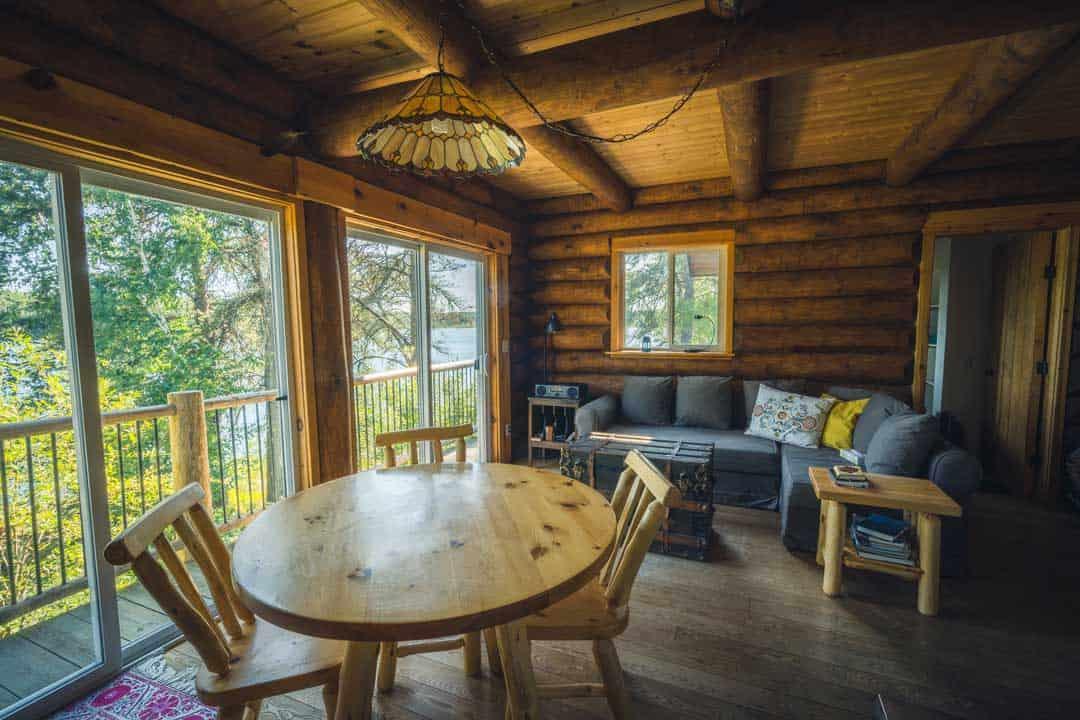 Beautiful Log Cabin Interior