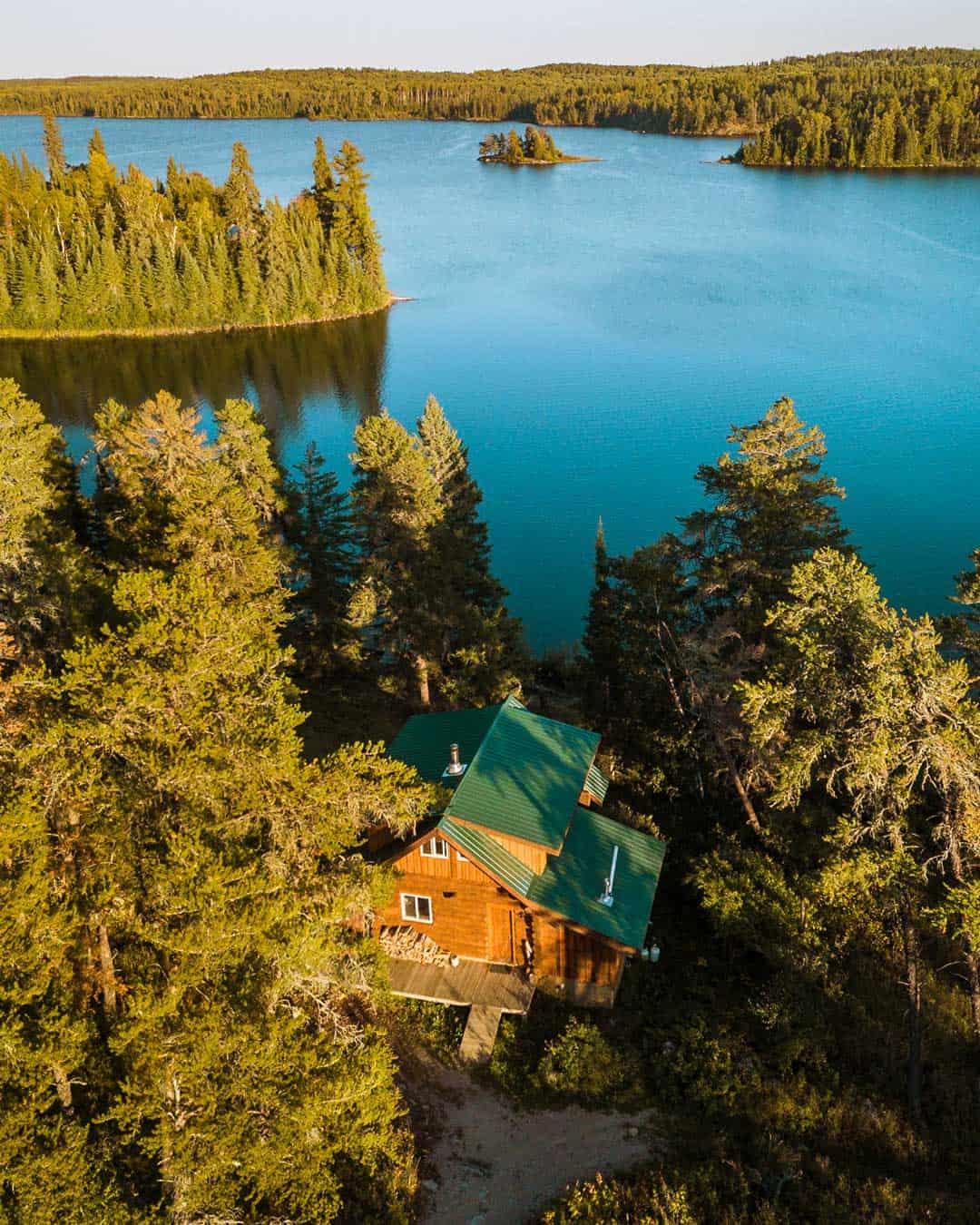 High Lake Drone Shot