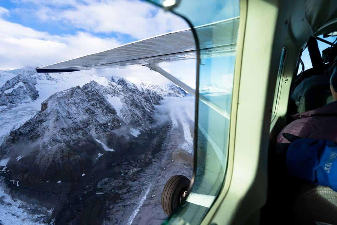 Open Window Plane Kluane Flightseeing