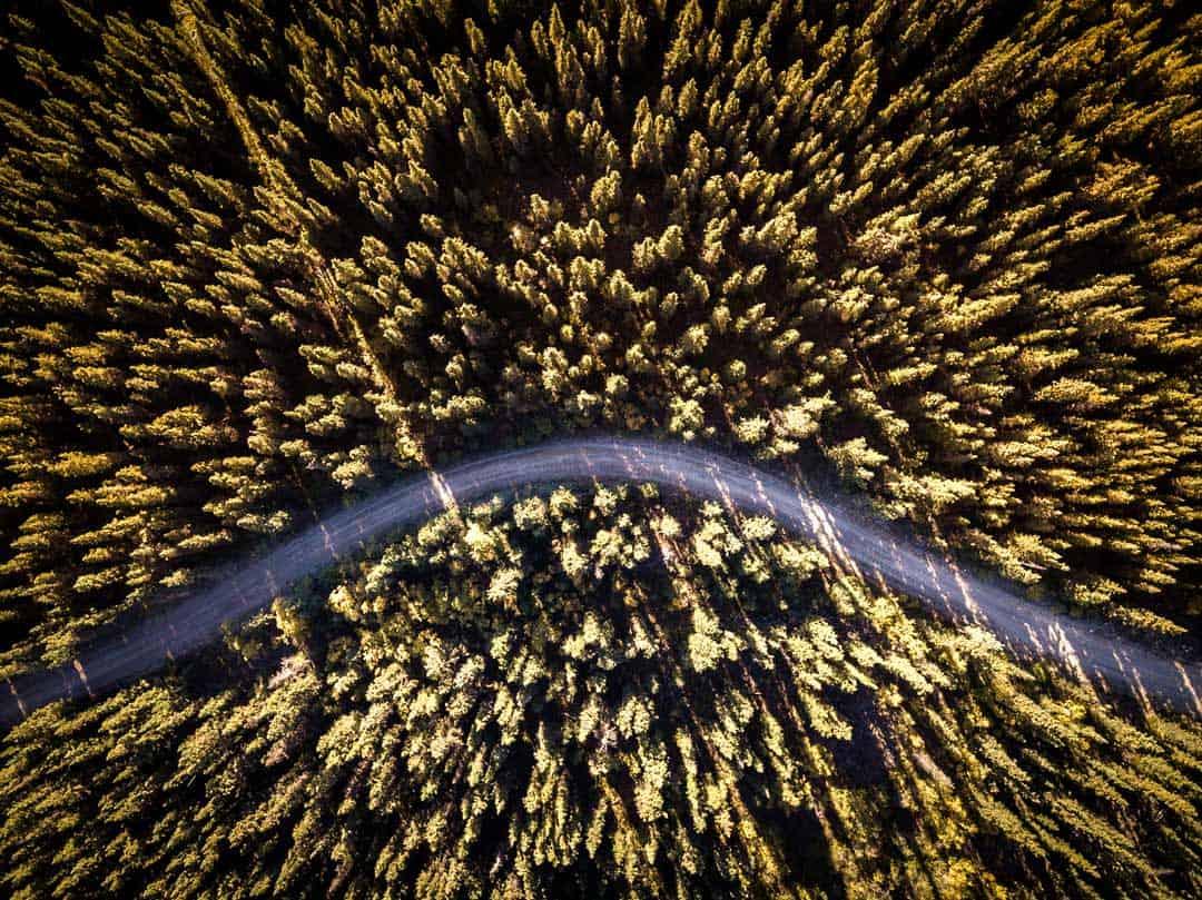Yukon Road Trip Drone Photo