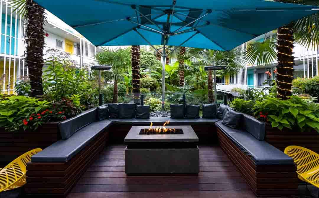 The Burrard Hotel Review Courtyard