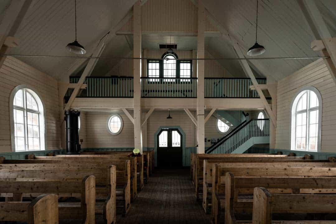 Inside Grytviken Church