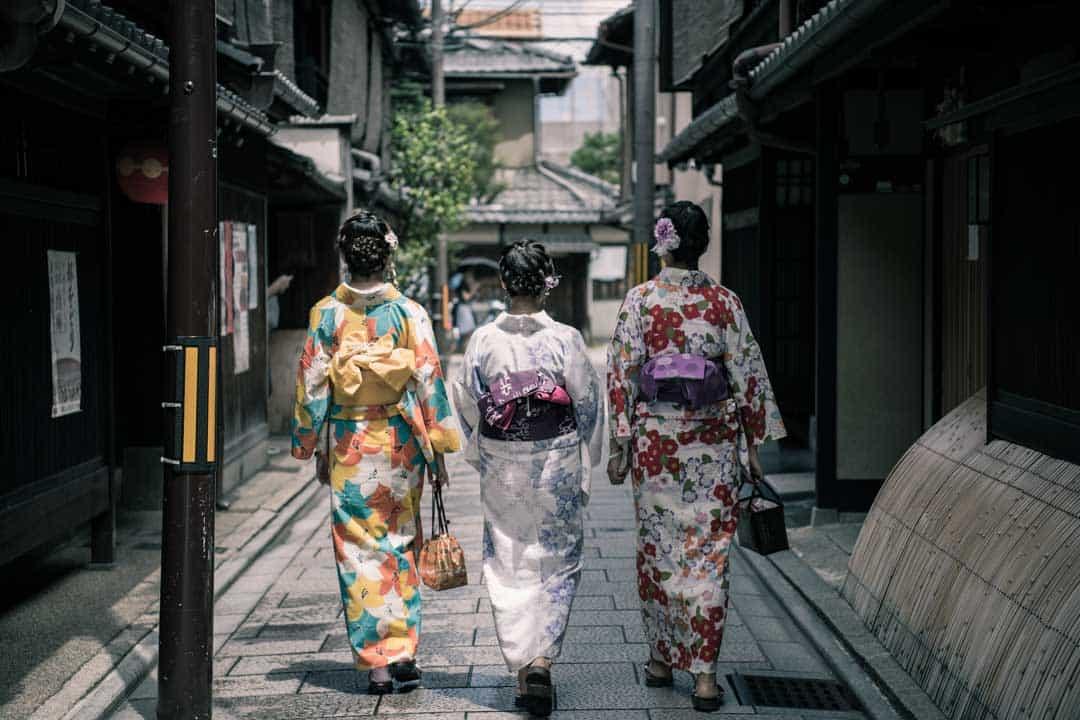 Gion, Kimono, Geishas