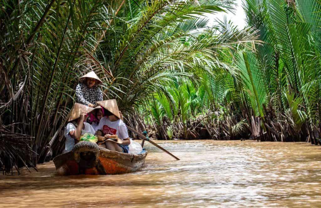Mekong River, Laos, Luang Parabang, Boat, Cruising