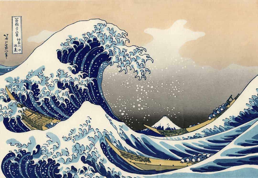 Japan, Japanese Art, Hokusai, Tokyo, The Great Wave Off Kanagawa, Wave