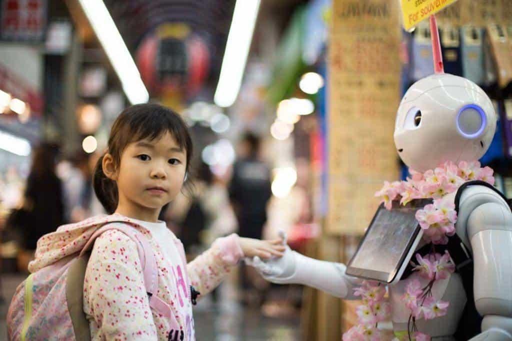 Osaka, Japan, Girl At The Market, Kuromon Ichiba