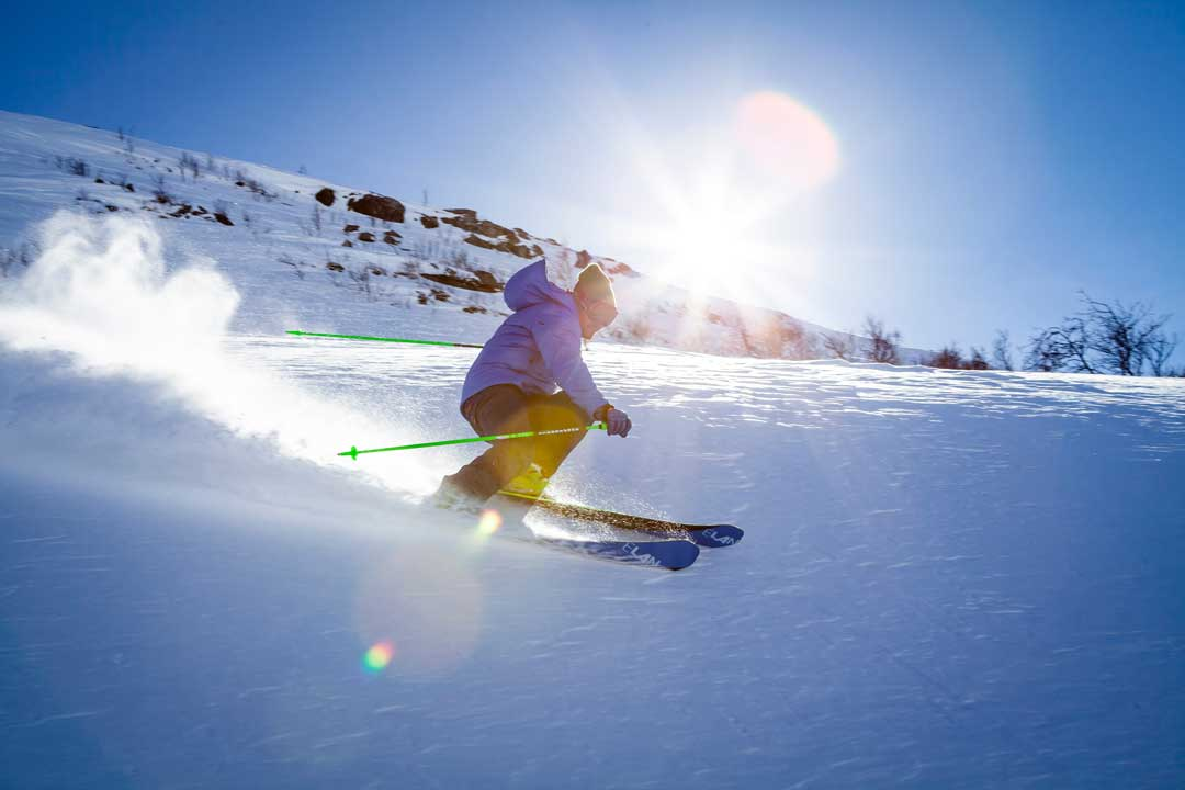 Skiing, Man Skiing, Sapporo Teine Ski Resort , Japan