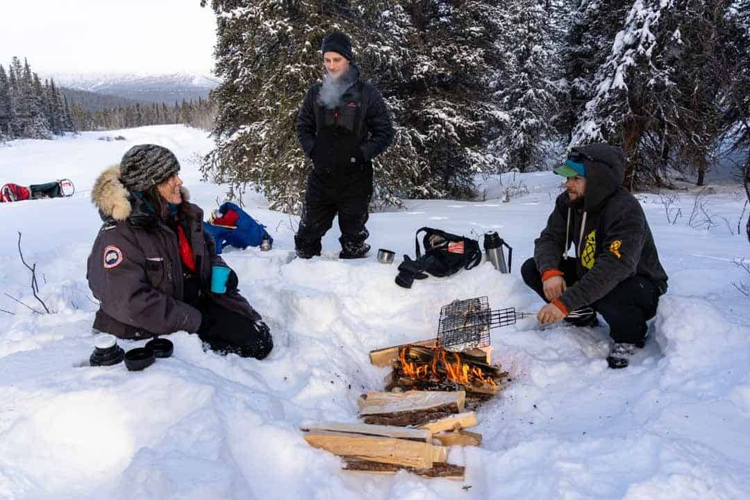 Fire In Snow Yukon