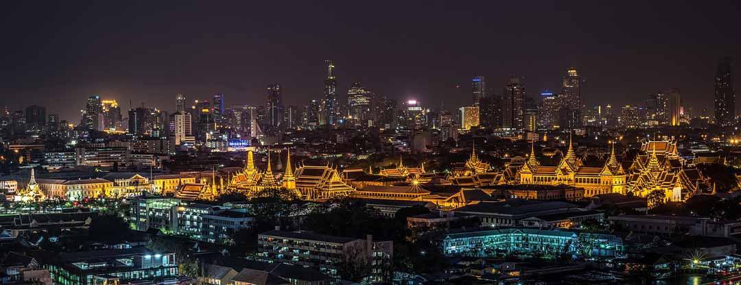 Bangkok, Panoramic View, Night, Thailand Capital, Thailand