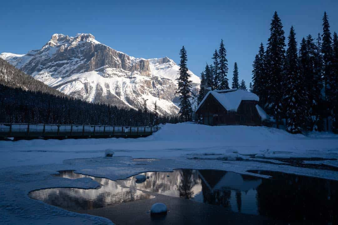 Emerald Lake Lodge In Winter