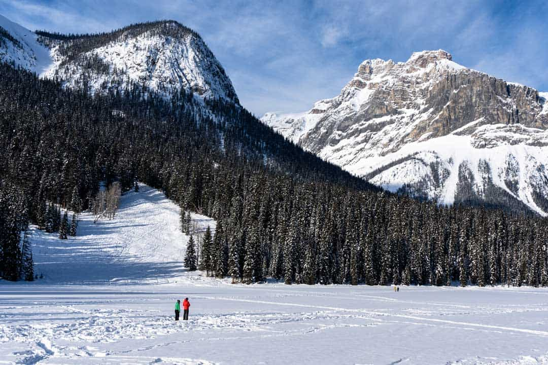 Emerald Lake Frozen