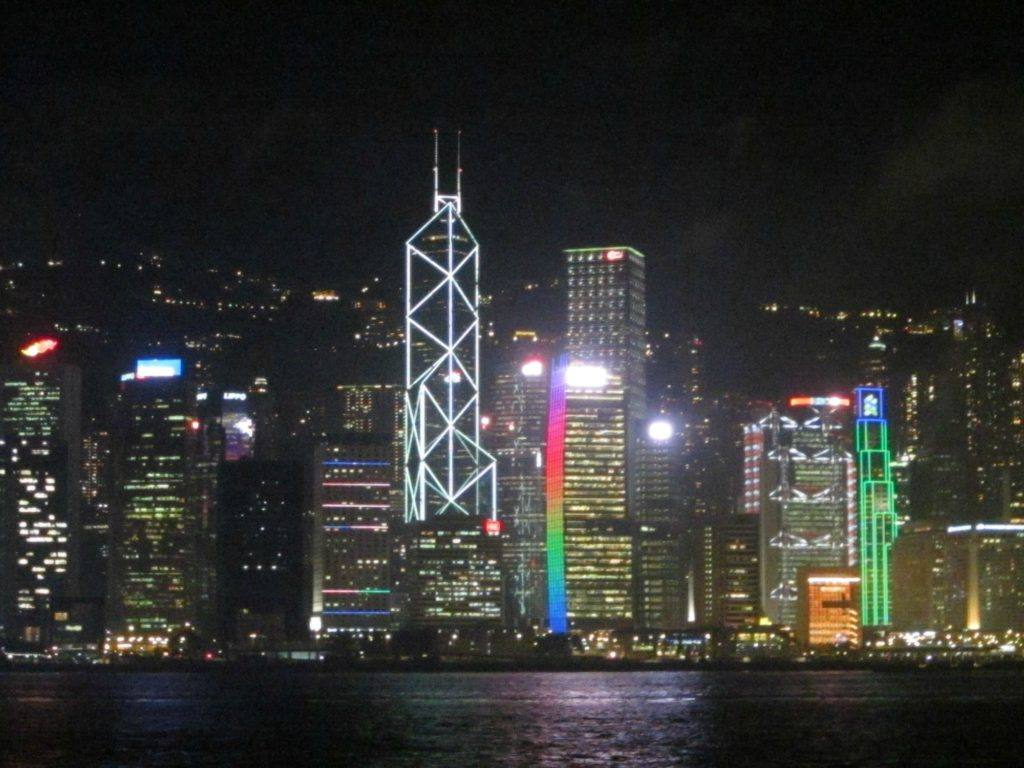 Night skyline Places to visit in Hong Kong