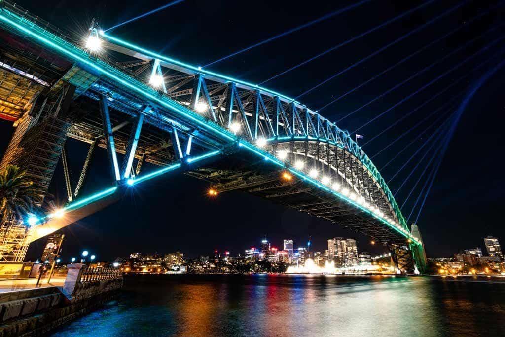 Harbour Bridge Vivid Sydney Photography Tips