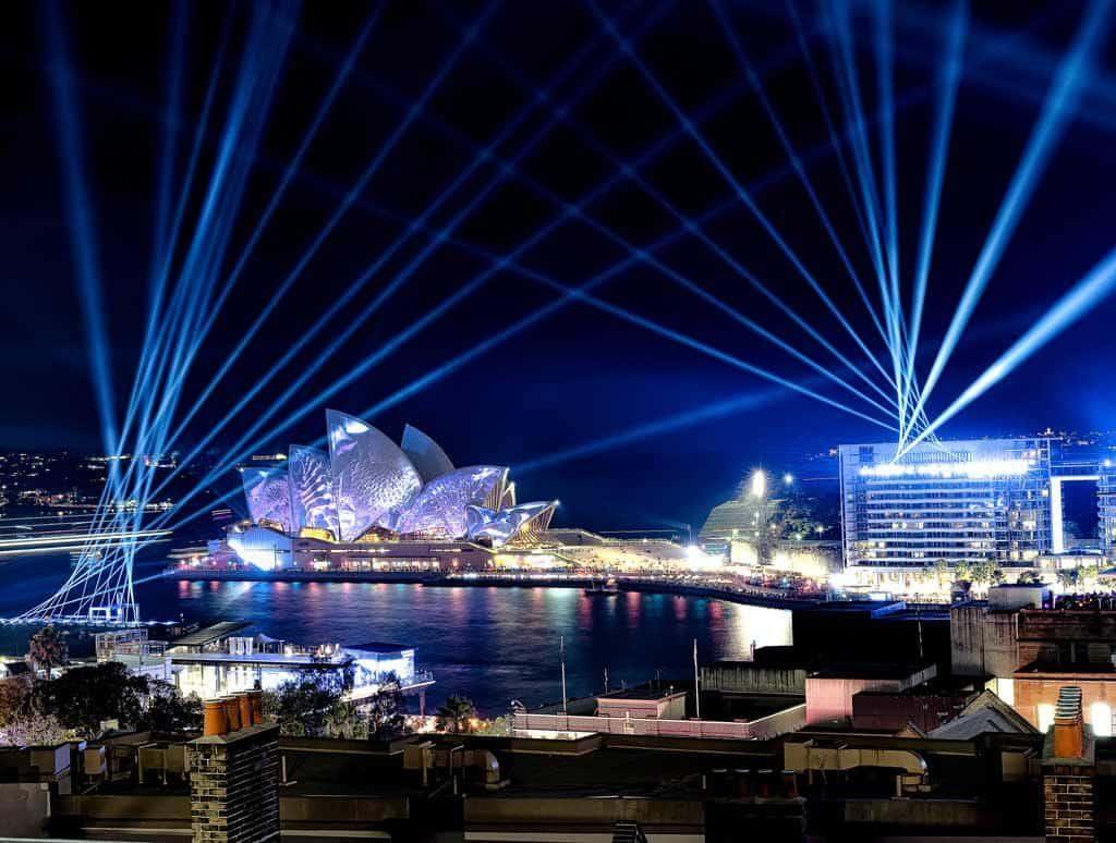 Vivid Sydney Harbour YHA